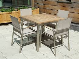 teak bistro table and chairs. View The Full Image Bistro 4 Seater Teak Stainless Steel \u0026 Weave Square Set Table And Chairs L