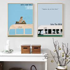 Canevas Moderne Design Best Deal 74842 Into The Wild Tv Show Silhouette Wall Art