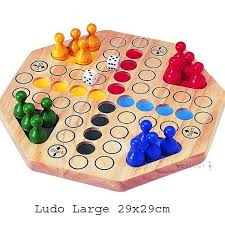 Wooden Ludo Board Game Toypost Ludo Large Size Traditional Board Game 55