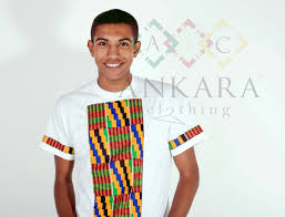 Kente Shirt Designs Ankara Clothing White Kente Chested T Shirt