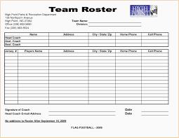 Football Depth Chart Template Excel Format Glendale Community