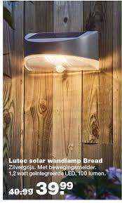 Lutec Solar Wandlamp Bread Aanbieding Bij Praxis