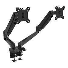 vision mounts gas spring dual lcd monitor arm desk mount and usb 15 27