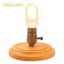 Wood Desk Lamp Wooden Desk Light Dimmable Table Desk Retro Desk Lamp
