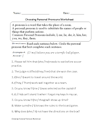 Pronouns Worksheets | Regular Pronouns Worksheets