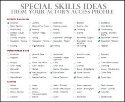 What To List As Skills On A Resume Lists Of Skills For Resume The Unique Computer Skills To List On Resume