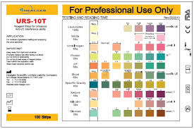 Urinalysis Reagent Strips Chart 78 Methodical Colour Chart For Urine Test Strips