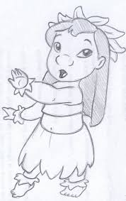Disney Sketch Lilo Dancing Hula