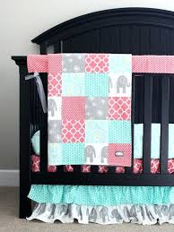 girl nursery bedding set custom crib bedding baby bedding mint grey elephant and c baby girl