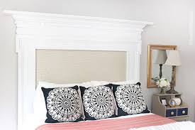 diy fireplace mantel headboard1