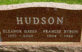 HUDSON, FRANCIS BYRON - Black Hawk County, Iowa | FRANCIS BYRON HUDSON -  Iowa Gravestone Photos