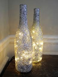 Making Wine Bottle Lights 1 Glitter Lighted Wine Bottle Wine Bottle Lamp Bar Light