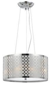 drum lighting pendant. Chrome \u0026 White Metallic Fabric Modern Drum Pendant Light Fixture Chandelier  Hanging Lamp 18\ Drum Lighting Pendant