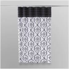 black and white damask shower curtain essential home shower