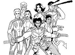 Small Picture Xmen Coloring Page Free Download