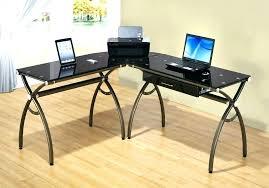 z line designs computer desk compact glass l shaped dimensions throughout keaton