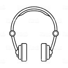 Drawn headphone headset 6