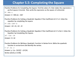 chapter 5 5 completing the square