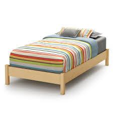 twin platform bed frame. Twin Size Platform Bed Frame In Natural Wood Finish T