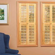 plantation light teak real wood interior shutters varies by size