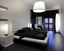 over the bed lighting. black and white bedroom using bedside floor lamps with drum pendant lighting over platform bed the _
