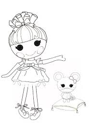 Lalaloopsy Coloring Pages Printable Funny Coloring
