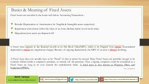 depreciation of fixed asset fixed asset process
