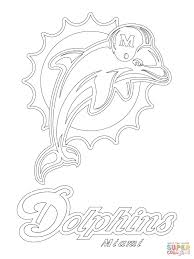 Miami Dolphins Coloring Pages Printable Coloring Page For Kids
