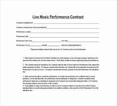 Unique Musician Contract Template Free Audiopinions