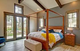 Rustic Single Bedroom Wood Diy Four Poster Bed Canopy Including ...