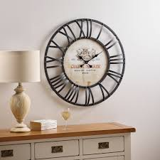 ... Clocks, Oversized Metal Wall Clock 60 Inch Wall Clock Black Frame Of  Metal Wall Clock ...
