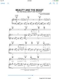 beauty and the beast sheet music beauty and the beast from the disney movie sheet music by angela