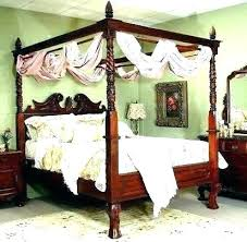 Antique Four Poster Bed And Side Lamp In Room Number Pineapple