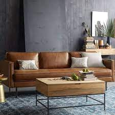 plain brown leather sofa for living