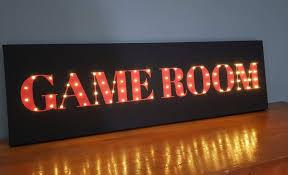light up game room metal wall decor