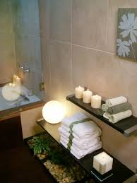 Spa Bathroom With Candles And Towels Delightful Spa Bathroom - Candles for bathroom