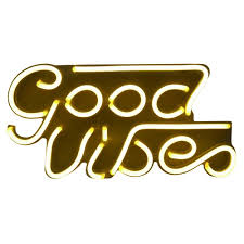 Good Vibes Light Up Sign Led Neon Good Vibes Wall Sign Novelty Wall Lights Turquoise