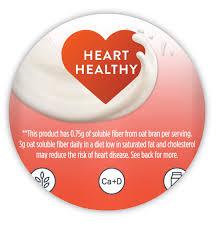 quaker oat beverage heart healthy claim