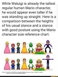 While Waluigi Is Already The Tallest Regular Human Mario