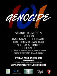 genocide ′ concert to commemorate n genocide on  genocide 101 poster 1