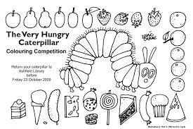 Small Picture The Very Hungry Caterpillar Coloring Page Coloring Page Zone