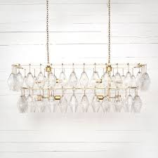 grand waterfall chandelier rectangular