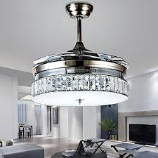 retractable lighting fixtures. Jubilant Lifestyle Modern Crystal Remote Control Transparent Acrylic 4 Blade Retractable Ceiling Fan With Chandelier Lamp Lighting Led Lights Fixture Fixtures