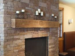 image of reclaimed log wooden fireplace mantels