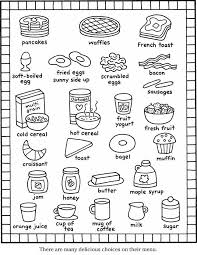 color it breakfast items | Coloring Pages | Food coloring pages ...