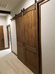 sliding barn doors interior. 8ft French Doors Interior Installed A Double Sliding Barn Door On My  Media Room Entrance Sliding Barn Doors Interior