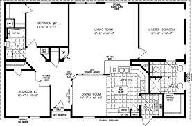 manufactured home floor plan the tnr model tnr 44810w 3 bedrooms
