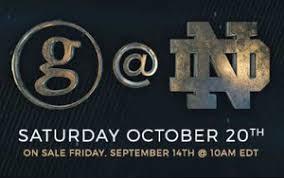 Notre Dame Stadium Seating Chart Garth Brooks Concert Garth Brooks Events Notre Dame Events