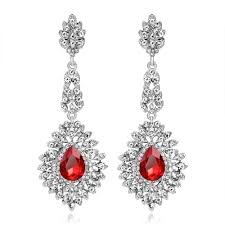 Wedding Earrings Design Hot Item Wholesale 2018 Top Design Women Fashion Jewelry Accessories Wedding Earrings Fashion Women Retro Crystal Drop Earrings