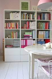 ikea besta office. Ikea Besta Home Office Shabby-chic Style With White Display And Wall Shelves